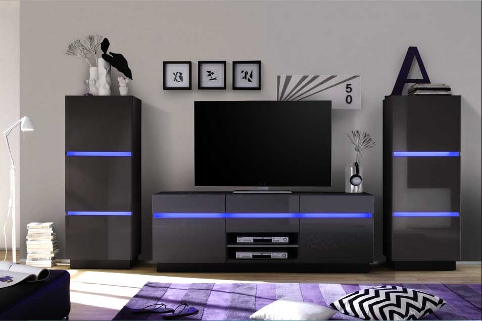 94 wohnzimmerschrank modern wohnwand elegatos mit. Black Bedroom Furniture Sets. Home Design Ideas