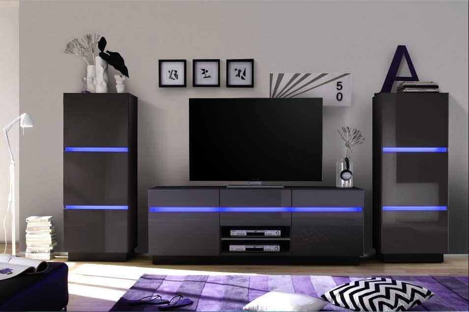 94 wohnzimmerschrank modern wohnwand elegatos mit for Wohnwand modern design