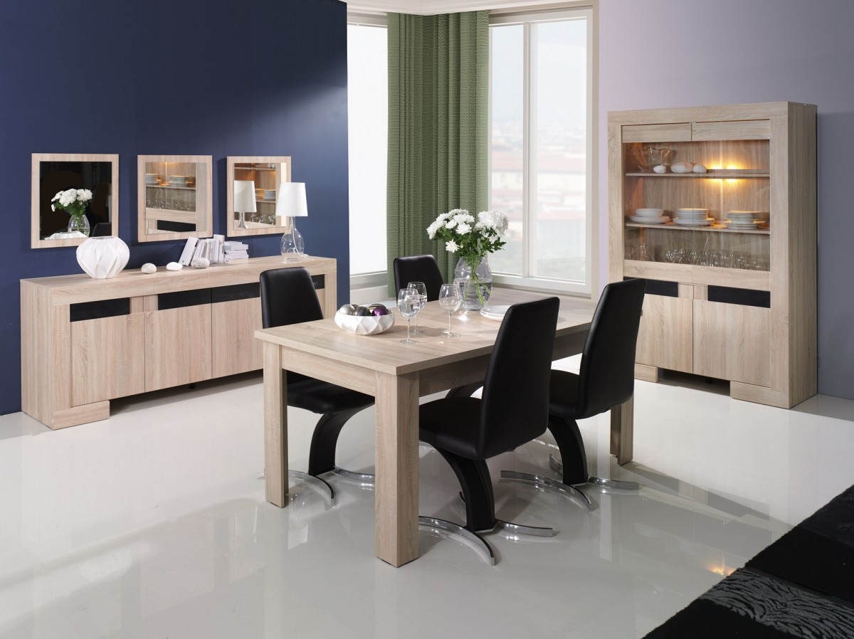 best salle a manger moderne bois clair images. Black Bedroom Furniture Sets. Home Design Ideas