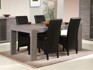 table de salle manger contemporaine coloris cottage oak gregory