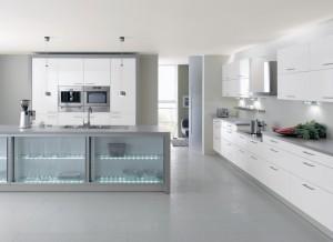 cuisine-design-blanche-ilot-led