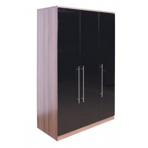 modular-walnut-and-black-gloss-3-door-wardrobe-